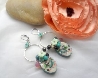 Earrings exotic flowers!