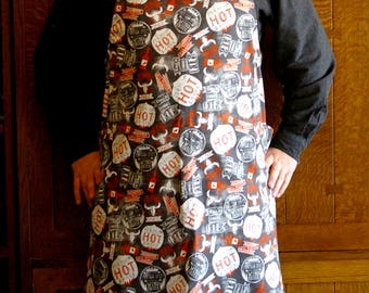 BBQ Man Apron - Hot Sauce Lovers Grilling Apron - Size L to 2XL