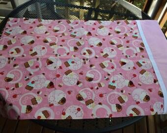 Handmade Pink Cupcake Standard Pillowcase