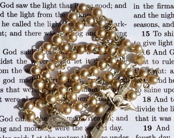 St Bernadette Rosary, Our Lady of Lourdes, Vintage Rosary Beads, Lourdes Rosary Beads, Catholic Rosary Bead, Rosary Beads, Pearl Rosary Bead