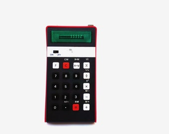 Vintage calculator Elka 131 red portable calculator pocket calculator led display desk accesories vintage school office supplies soviet 70s