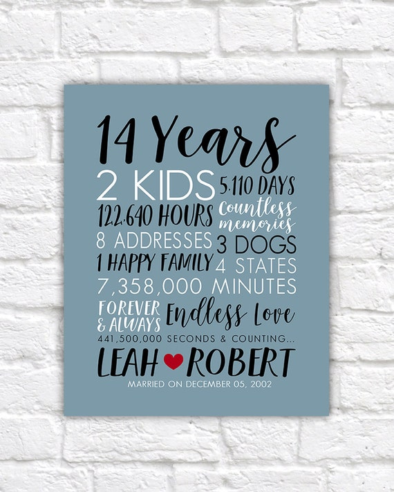 13th Wedding Anniversary Gift Ideas For Him: Anniversary Gifts For Husbands ANY Year Anniversary Art