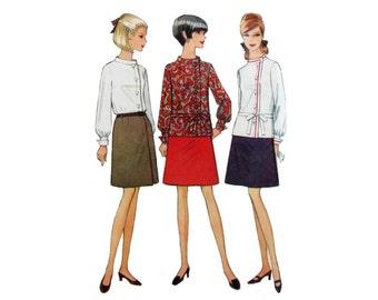 Blouse, Skirt, Pattern, Size 12, McCall's 8984, UNCUT, Rare Pattern, Asymmetrical Top