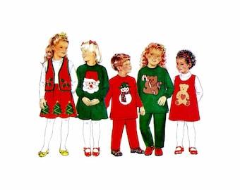 Butterick 4650 Girls and Boys Christmas Dress Top Jumper Vest Skirt Pants Sewing Pattern Size 2 - 3 - 4 - 5 UNCUT