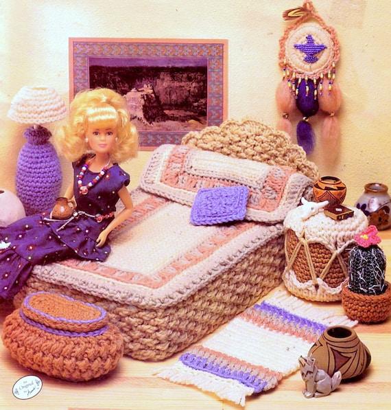 Vintage Crochet Pattern PDF Fashion Doll Home Decor Desert Bedroom Barbie Sindy  Dolls House Furniture From ToysWereUsPatterns On Etsy Studio