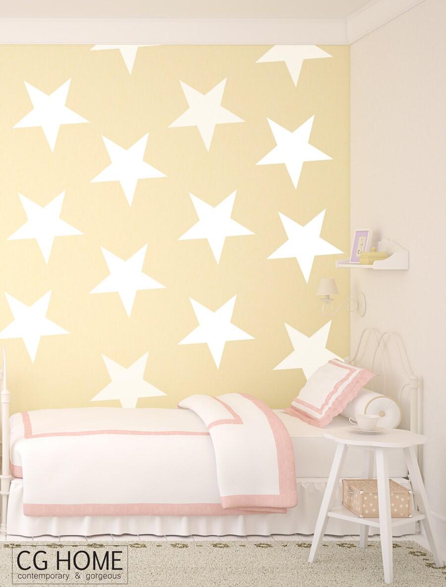 STARS wall art // wall decals confetti // Wall stickers Silver