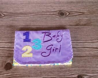 Diaper & Wipe Clutch/Small Diaper Bag/Purple Diaper and Baby Wipe Clutch/Mini Nappy Bag/Travel Small Diaper Bag/Diaper and Wipe Organizer