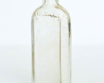 Vintage Glass Bottle, Hand Med Co. Philadelphia, 1915-1929, Vintage Medicine Bottle, Vintage Apothecary Bottle