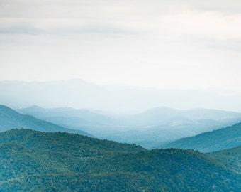 "Mountain Photo, Shenandoah, Blue Ridge, Appalachian- 20x24, 16x20, 11x14, 8x10 or 5x7 photograph, ""Good Things Happen When You Go Outside"""