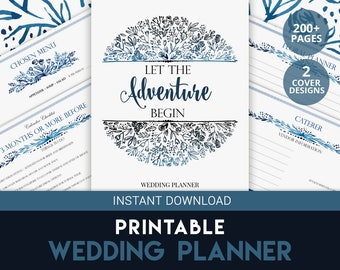 Bridesmaid Planner | Wedding Planner Printable | Wedding Organizer | Engagement Gift | Wedding Budget | Printable Wedding