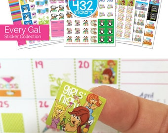 "Planner Stickers 10 x 432 Planner Stickers to stylize any planner or calendar! Actual size 3/4"" x 3/4"" [10 pks-432 stickers]"