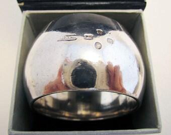 Antique Victorian (1884) heavy 35.4g! Hallmarked Solid Sterling Silver Serviette NAPKIN RING. 19th-Century