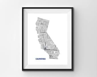Custom California State Map