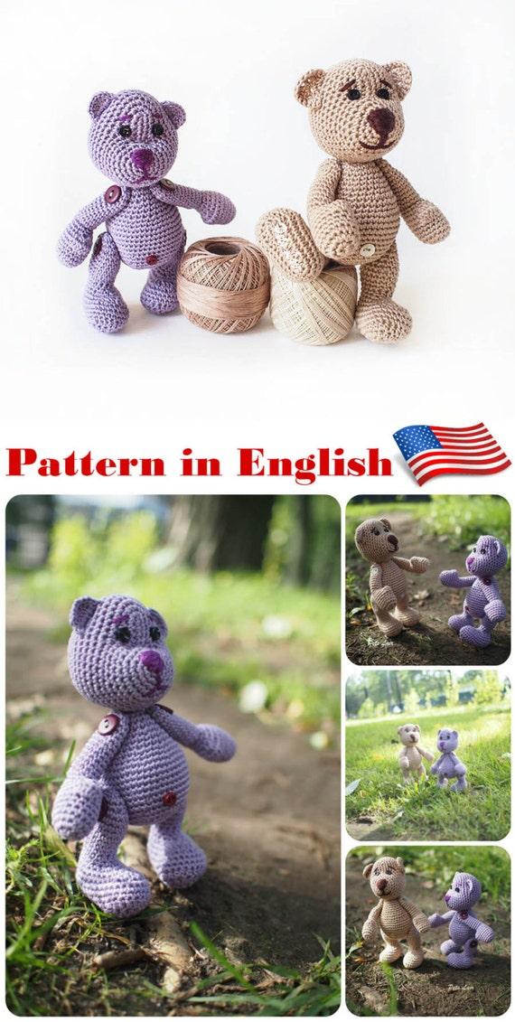 oso miniatura Crochet patrón, patrones ganchillo Juguete peluche ...
