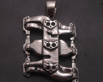 Intake manifold pendant - Sterling silver - Edelbrock
