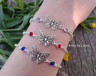 BUTTERFLY Bracelet-Sterling Silver 925
