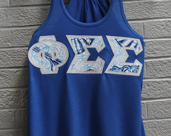 True Royal Bella Tank With Lilt Print On Metallic Silver (379A)