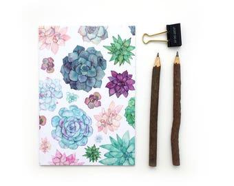 Succulent, Notebook, Succulent Lover, Sketchbook, Journal, Bullet Journal, Planner, Notepad, Plant, Gardener, Succulent Gift, Stationery,