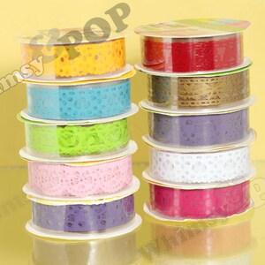 10 - Rolls Mixed Color Lace Deco Tape, Scrapbooking Lace Deco Tape , Crafts DIY Decoration, 15mm (C1-23)