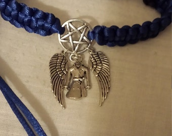 Supernatural inspired Castiel braided bracelet