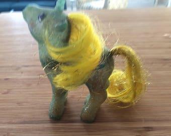 Vintage 1984 G1 Sparkle Unicorn My Little Pony Starhopper.  Very rare pony..good condition