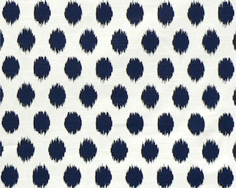 "Jo Jo Navy and White Slub Curtain Panels 24"" or 50"" x 63, 84, 90, 96 or 108L Premier Prints Curtains"