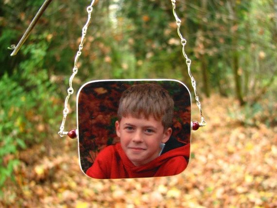Spin-able Photo Ornament for your Christmas Tree - Small - O3Ra