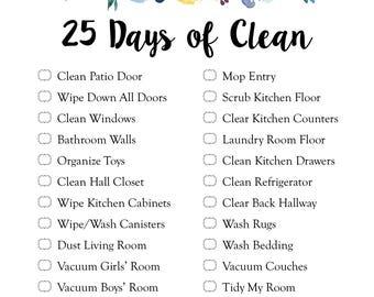 5 Week Cleaning Schedule