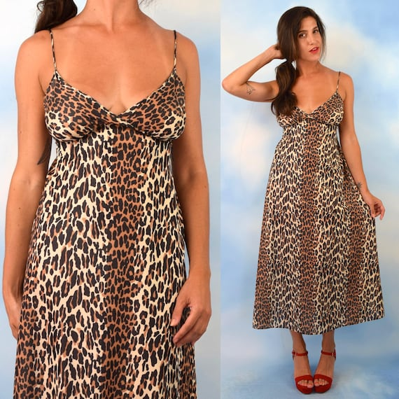 Vintage 60s 70s Vanity Fair Leopard Print Dressing Gown (size xs, small)