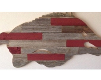 Razorback Block Wall Hanging, Multiple Colors