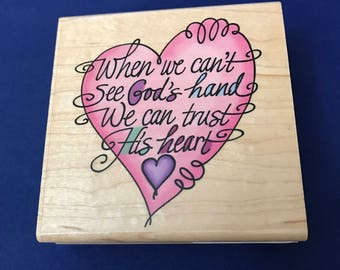 When We Can't See God's Hand Stamp, Religious, God, Stampendous