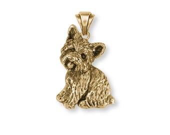 Yorkie Yorkshire Terrier Pendant Jewelry Gold Vermeil Yorkie Yorkshire Terrier Dog Pendant YK34-PVM