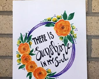 Sunshine in my Soul Wreath Print