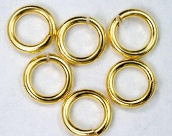 6mm Gold Jump Rings #RJG007