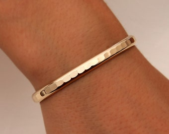 Thick Hammered Cuff Bracelet, 14K Yellow Gold Filled (352.ygf)