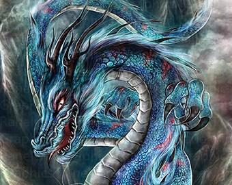 Eastern Dragon Print - Free USA Shipping