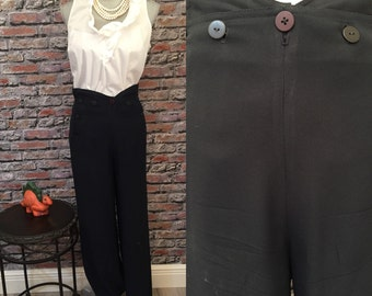 Vintage VERTIGO Navy Sailor Pants  Made In France        Euro size 42   USA size 6