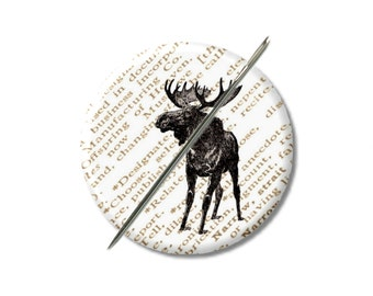 Aimant de Moose aiguille minder Croix Couture Couture outil couture notion femme cadeau moins de 10 animaux Woodland stuffer de bas