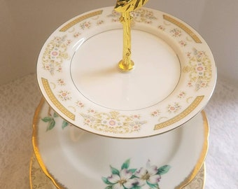 Mismatched 3 Tiered Cake Stand