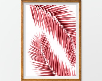 Palm Print Palm Tree Print - Palm Wall Art Wall Print Digital Wall Print