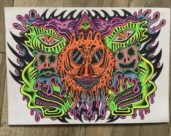 Dragons tale, Original drawing