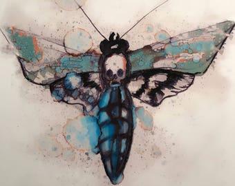 Death moth #1 print