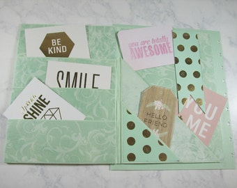 Happy Planner cover-mint-mambi | create 365 | me & my big ideas | front cover only