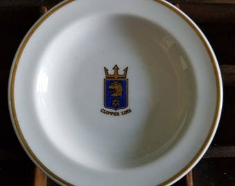 Clipper Line Butter Pat Plate.  Marked Rorstrand Sveirge 572