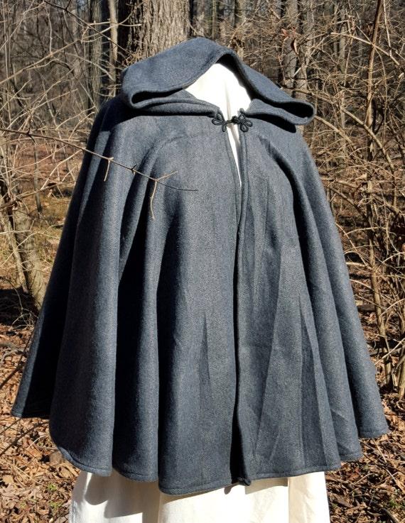 Short Fleece Cloak - Dark Grey Full Circle Cloak Cape yrDdps