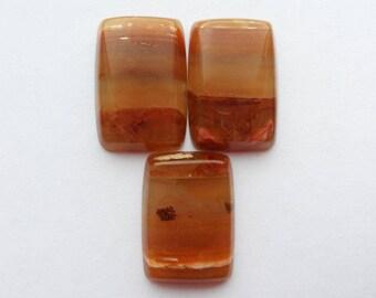Agate (carnelian) cabochon set
