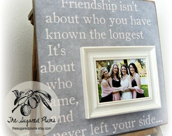 Sister Gift, Bridesmaid Gift, Best Friend Gift, Maid of Honor Gift, Personalized Picture Frame 16x16 BEST FRIENDS
