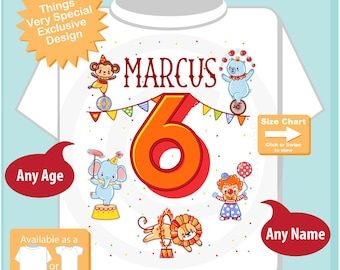 Circus 6th Birthday Shirt, Circus Themed 6th Birthday Shirt, Circus Sixth Birthday shirt for Circus Themed Birthday Party 04142017d