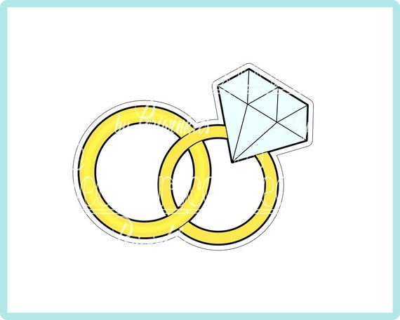 Wedding Rings Cookie Cutter Wedding Cookie Cutter Rings