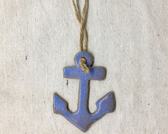 Ceramic Anchor Ornament